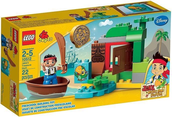 LEGO DUPLO 10512 Pirát Jake Jakeova honba za pokladem