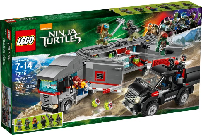 LEGO Želvy Ninja 79116 Únik velkého sněžného náklaďáku