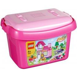 Lego box na kostky růžový