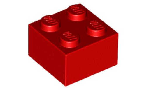 Lego kostka 2x2 použitá červená