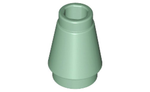 Cone 1 x 1 with Top Groove
