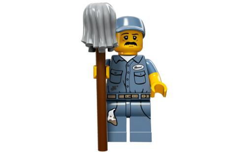 LEGO 71011 Minifigurky - 15. série - č.9 - Školník