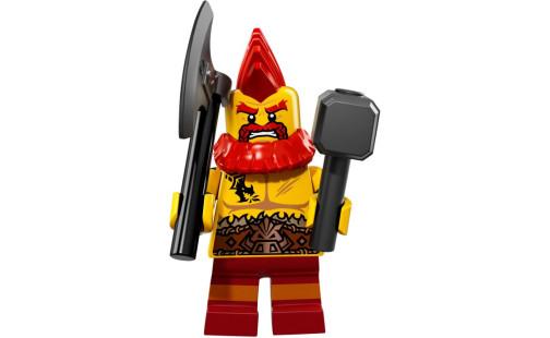Lego 71018 Minifigurky 17. série - 10 - Trpaslík bojovník
