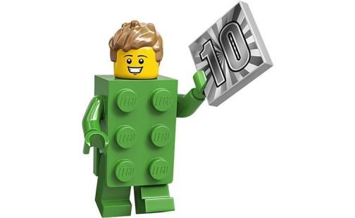 LEGO 71027 Minifigurky 20. série Kostým zelená kostka (13.)