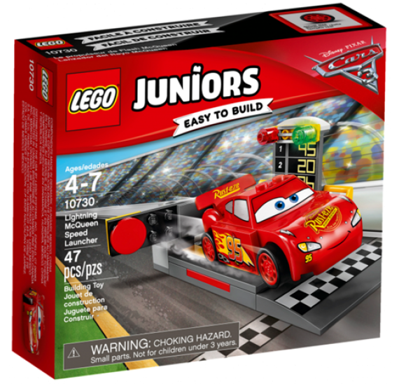 Lego JUNIORS 10730 Vystřelovač Bleska McQueena - balení