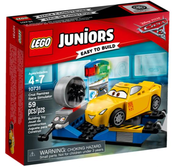 Lego Juniors 10731 Závodní simulátor Cruz Ramirezové - balení