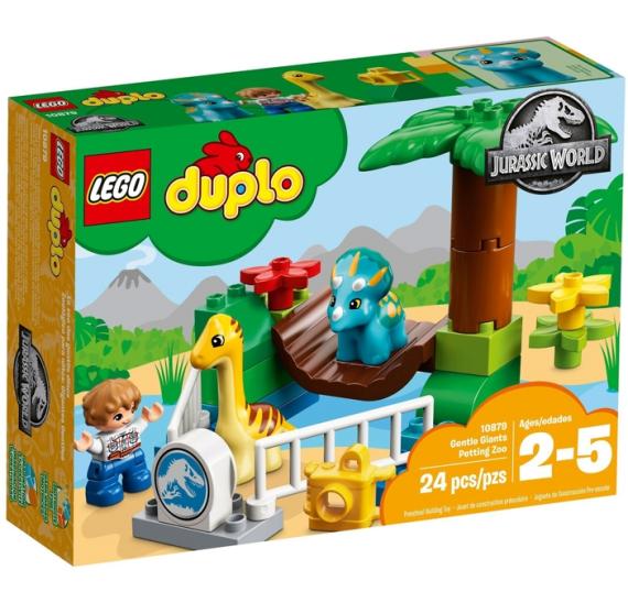 LEGO DUPLO 10879 Jurský svět Gentle Giants Petting Zoo - balení