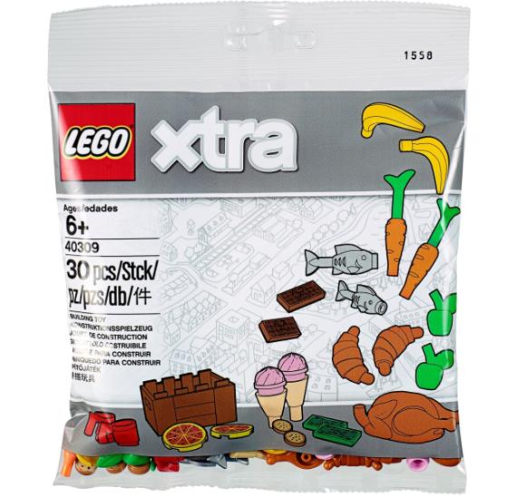 LEGO XTRA 40309 Doplňkové dílky – Jídlo - balení