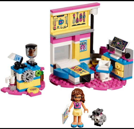 Lego Friends 41329 Olivia a její luxusní ložnice - detail