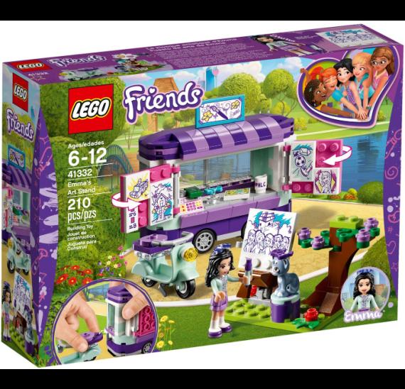 Lego Friends 41332 Emma a umělecký stojan - balení