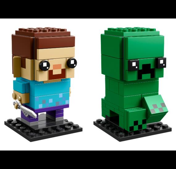 LEGO BrickHeadz 41612 Steve a Creeper - detail
