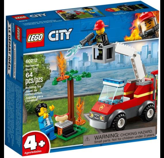 Lego City 60212 Grilování a požár - balení