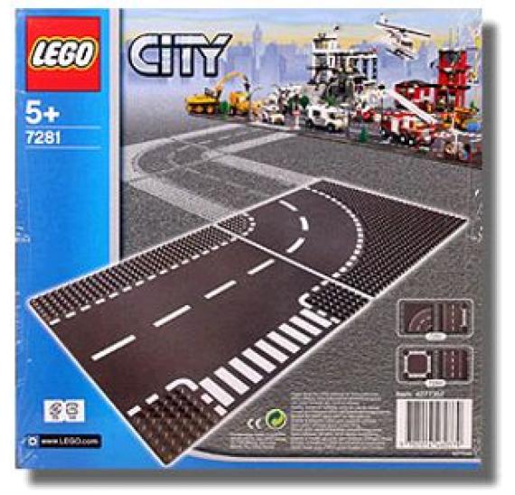 Lego City 7281 Křižovatka T + zatáčka - baleni