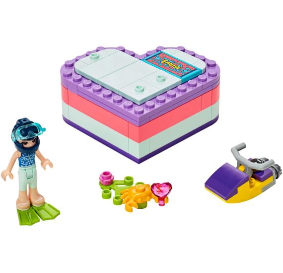LEGO Friends 41385 Emma a letní krabička ve tvaru srdce