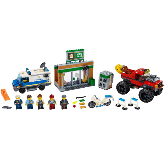 LEGO City 60245 Loupež s monster truckem